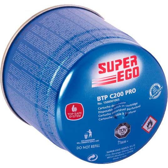 CARTUCHO DE GAS SUPER-EGO BTP C200 PRO 1500001065 150GR 350ML
