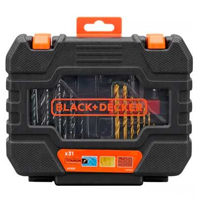 KIT 31 PZAS BLACK DECKER TITANIO